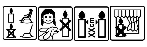 Sicherheitshinweise für den Umgang mit Kerzen