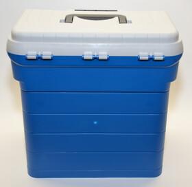 Sitzkiepe und Gerätebox / Gerätekasten in einem, mit vielen Boxen und Extras