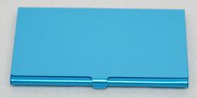 5x Alu Visitenkartenetui / Etui blau für ca. 12 Karten im Hamsterpack