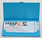 Alu Visitenkartenetui / Etui blau für ca. 12 Karten inkl. Geschenketui