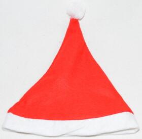 Weihnachtsmütze mit Bommel in Einheitsgröße