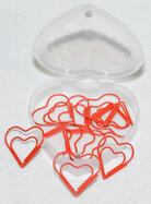 Herz Geschenkset mit Kerzenhalter, Bilderrahmen, Büroklammern und Zettelhalter