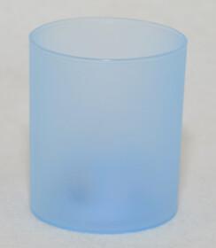 LED Teelichter mit Glas / blau