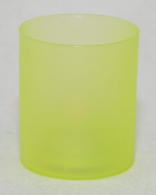 LED Teelichter mit Glas / grün