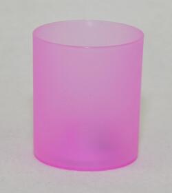 LED Teelichter mit Glas / pink