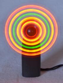 Mini Handventilator mit 5 LEDs ideal für Party und...