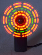 Mini Handventilator mit 5 LEDs ideal für Party und Events