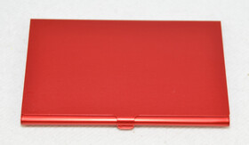 5x Alu Visitenkartenetui / Etui rot für ca. 12 Karten im Hamsterpack