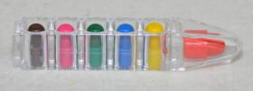 Wachsmalstifte zum Wechseln in sechs verschiedenen Farben