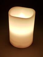 LED Echtwachskerze 10cm Höhe mit Fernbedienung und Farbwechsel