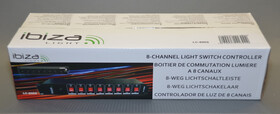 """8 Kanal Lichtschaltleiste / Steckdosenleiste 19"""" für Effekte und DJs / einzeln schaltbar"""
