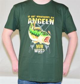 T-Shirt wichtigeres als Angeln Gr. XXL