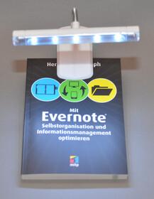 LED Leselampe mit 5 Power LEDs und Clip - ideal für die Reise