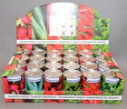 Gemüse aus der Dose / Gemüse in verschiedenen Sorten mit Granulat und Samen