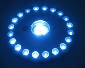 Rundleuchte mit 23 Power-LEDs & Fernbedienung