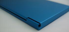 Alu Visitenkartenetui / Etui in blau für ca. 12 Karten
