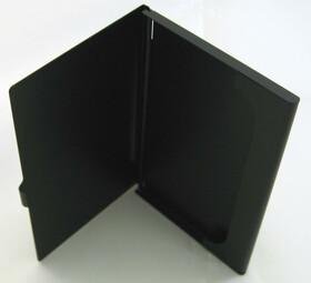 Alu Visitenkartenetui / Etui schwarz für ca. 12 Karten