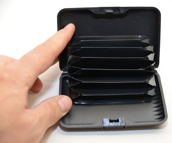 Visitenkartenetui Kreditkartenetui Suitcase Aus Aluminium