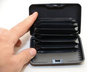 Visitenkartenetui Kreditkartenetui Suitcase aus Aluminium...