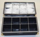 XXL Eiswürfelform aus Silikon für acht riesige Eiswürfel / 5x5cm in Würfelform