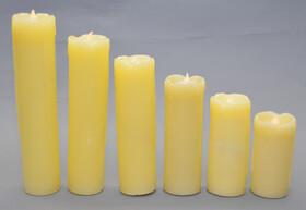 LED Echtwachskerzen 6er Set verschiedene Höhen mit...