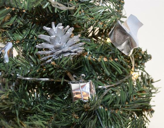 Künstlicher Weihnachtsbaum Mit Beleuchtung 45 Cm.Led Weihnachtsbaum Tannenbaum 45cm Künstlich Mit Beleuchtung Und Deko 2 Farben