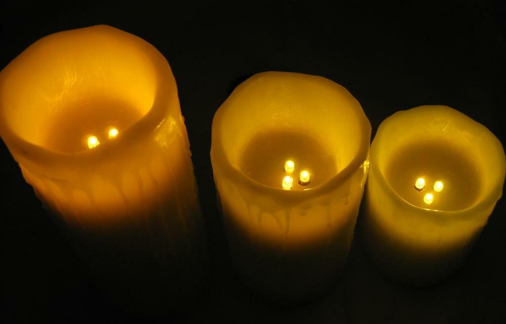 LED-Wachs-Kerzen 3er Set Mit Fernbedienung, 24,95
