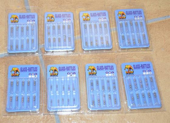 Behr Glass-Rattles Set mit 8 Stück Gr. M + L für Weichköder mit kleinem Fehler
