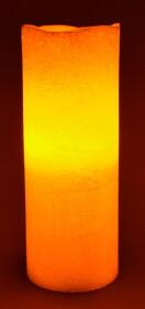 LED Echtwachskerze Gold mit Flackereffekt 20cm hoch