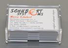 Visitenkartenspender transparent aus Kunststoff für bis zu 80 Visitenkarten