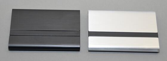 Visitenkartenetui Janauba aus edlem Aluminium in schwarz oder silber