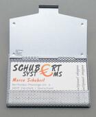 Visitenkartenetui aus Metall in schwarz oder silber für bis zu 20 Visitenkarten
