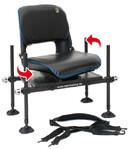Behr Feeder-Sitz drehbar mit Rückenlehne, Füßen, Schultergurt und guter Polsterung