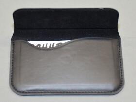 Visitenkartenetui Visitenkartenbox Reflects Limoges aus Kunstleder in schwarz