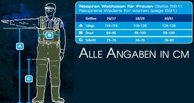 Behr 4mm Neopren Wathose für Frauen und Jugendliche Gr. 38/39