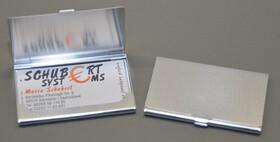 2er Doppelpackung / Visitenkartenetuis aus Aluminium...