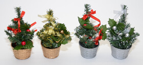 Weihnachtsbaum Tannenbaum 20cm hoch mit Dekoration in...