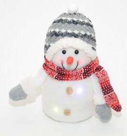 Weihnachtsfigur Schneemann schön dekoriert mit...