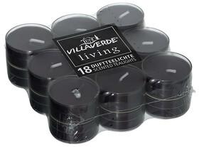18er Packung Duftteelichter / Black