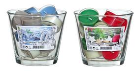 12 Teelichter mit Duft Weihnachtszeit und Winterzauber...