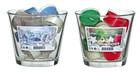 12 Teelichter mit Duft Weihnachtszeit und Winterzauber komplett mit Glas