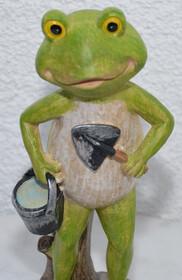 Frosch mit Eimer und Schaufel 30cm Höhe wetterfest...