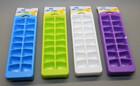 Eiswürfelbehälter Eiswürfelform 3er Set in vier verschiedenen Farben für 48 Eiswürfel