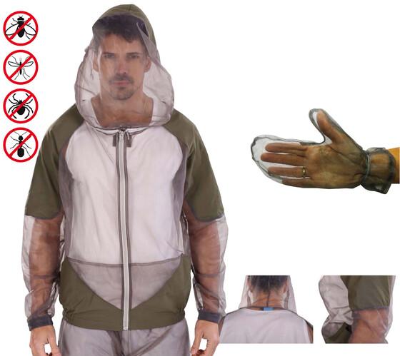 Behr Mosquito Jacke Mückenschutz mit Handschuhen Gr. M-XXL