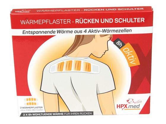 HPXmed Wärmepflaster für Rücken und Schulter 2er Set für je 8 Stunden Wärme