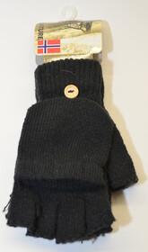 Handschuhe fingerlos in Einheitsgröße / schwarz
