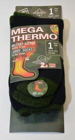 Mega Thermo Socken im Army Style / schwarz/grün Gr....