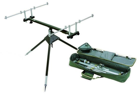 Behr Aluminium Rod Pod mit drei Füßen für bis zu 4 Ruten geeignet inkl. Tasche