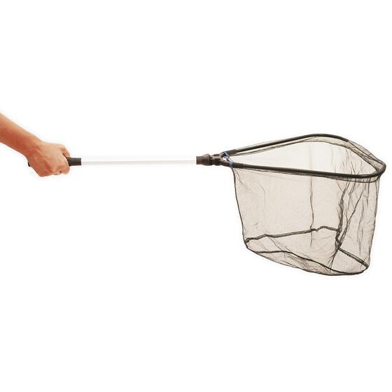 Klappbarer Hand- und Watkescher von Behr superleicht 40 x 40cm für Forellenfischer