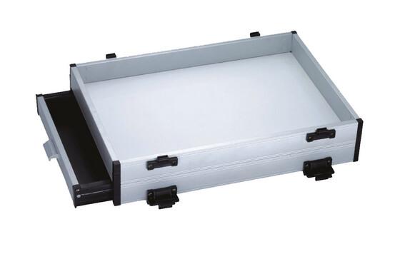 Schubfachlade doppelt mit Schublade rechts 8cm Höhe als Systemteil für Trendex 2 Sitzkiepe